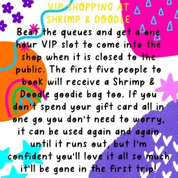 VIP Shopping At Shrimp & Doodle