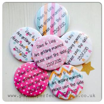 Bright save the date pack of 50 magnets