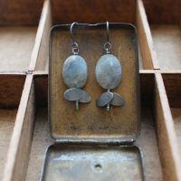 Tiny Ovals + Bead Earrings
