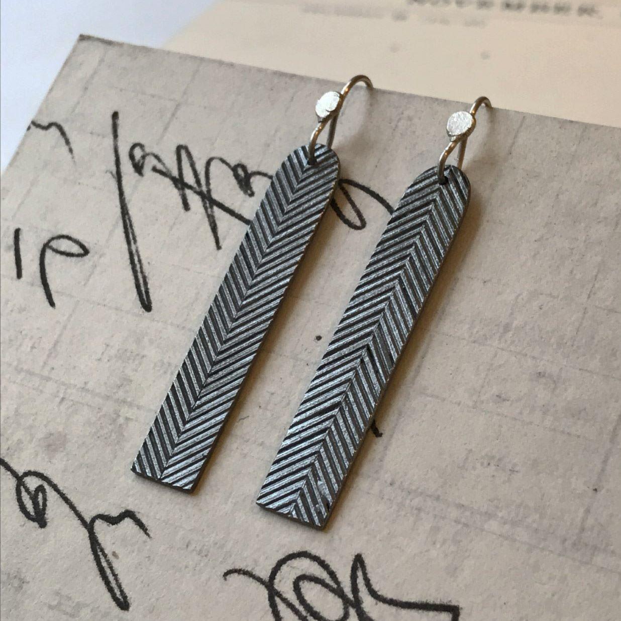 Chevron Long Arc Earrings