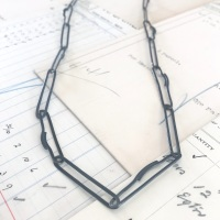 Long Lozenge Links Necklace