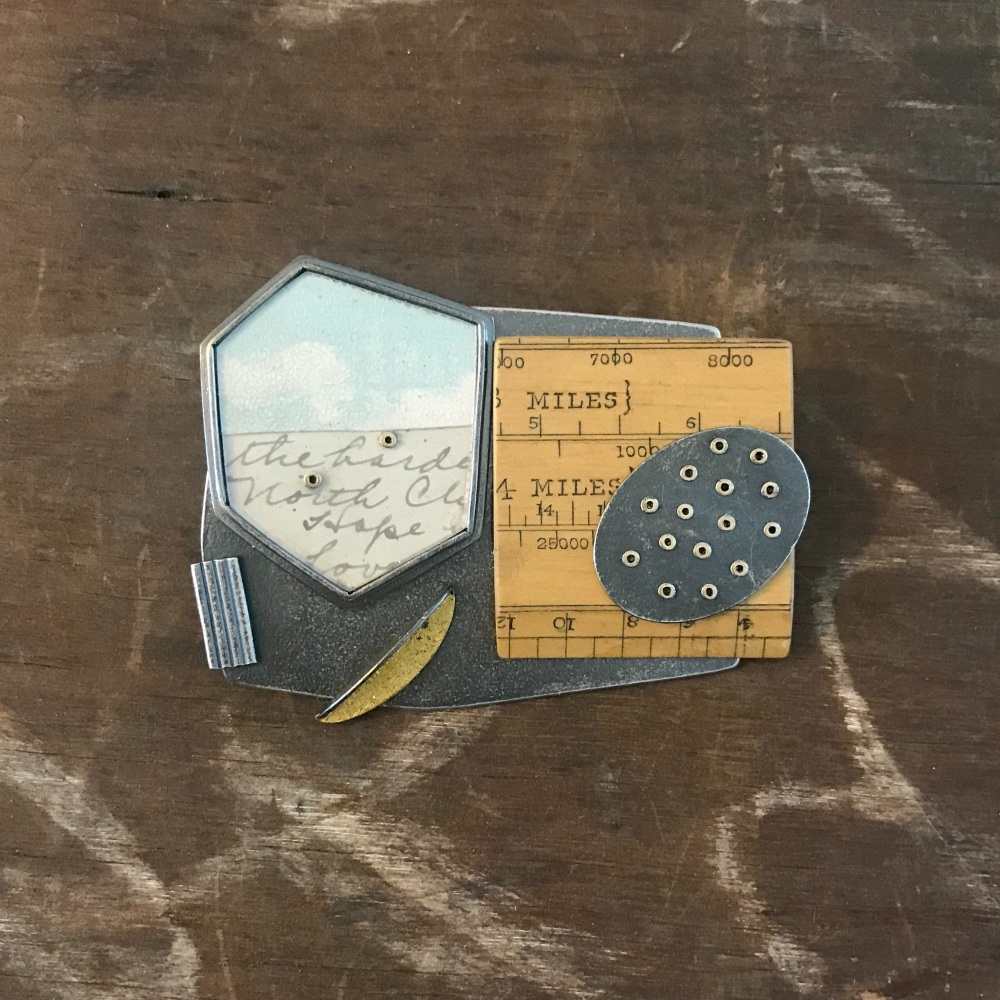 Collage Brooch 3:4