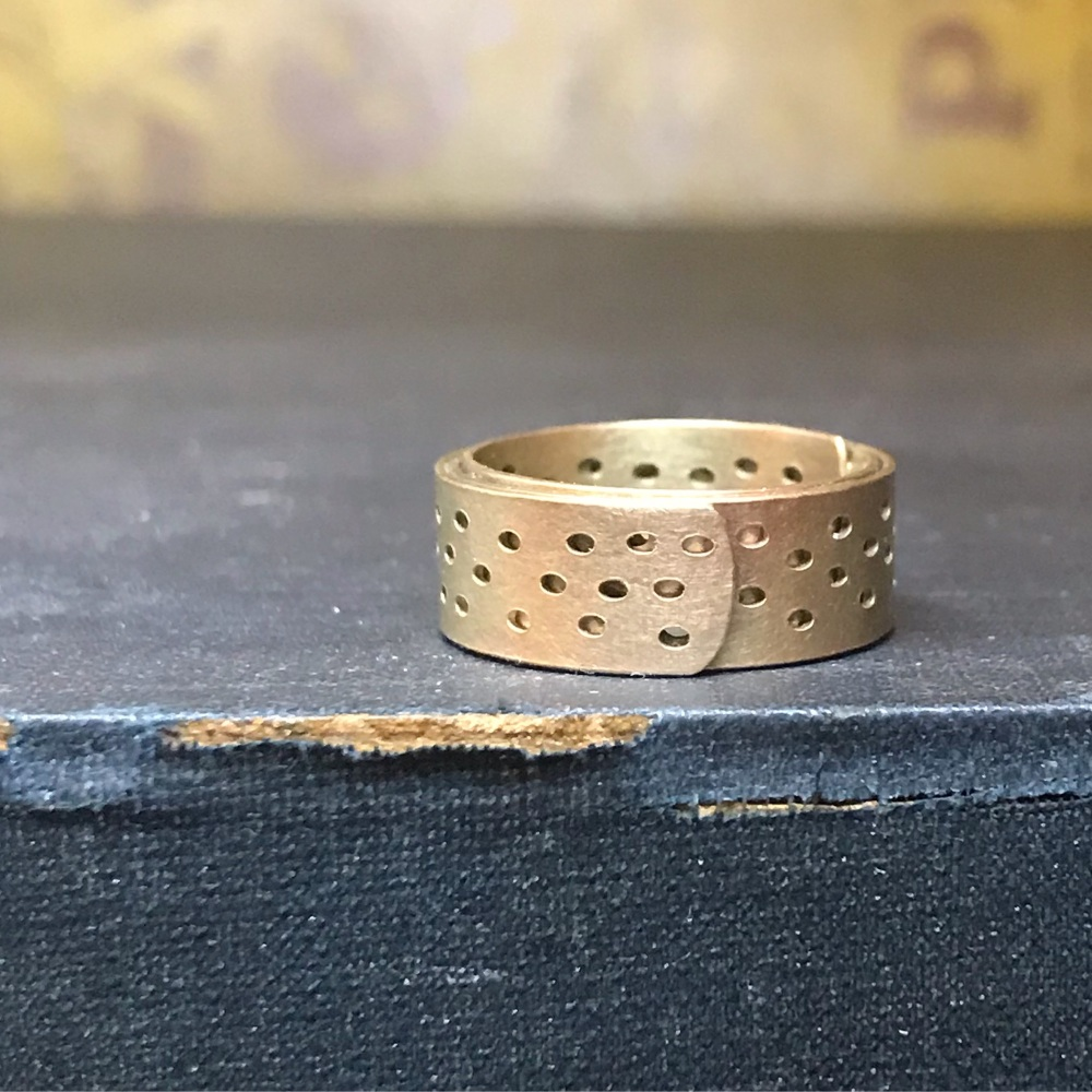 Gold Holey Wrap Ring