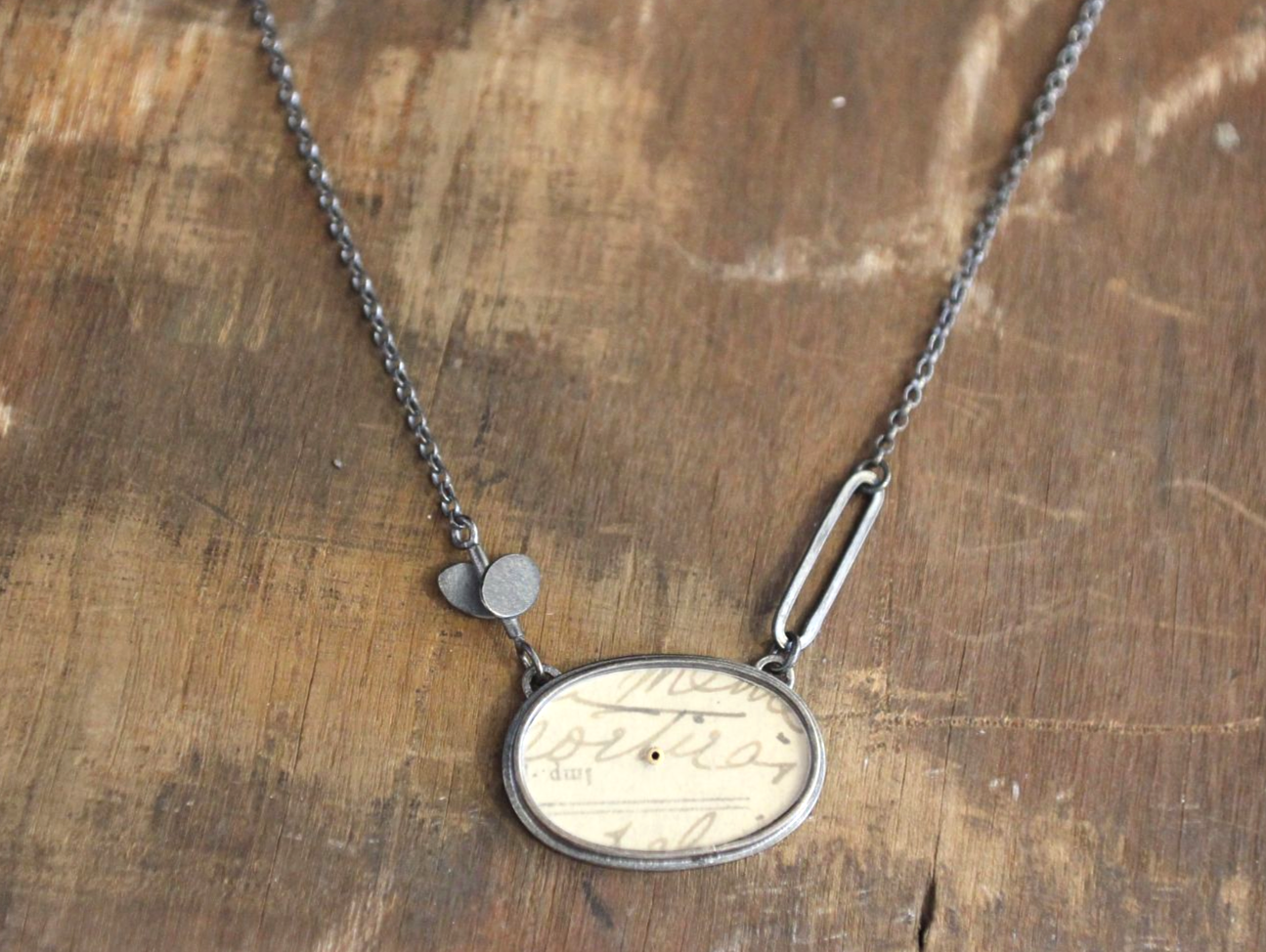 Oval, Tiny Ovals + Lozenge Necklace