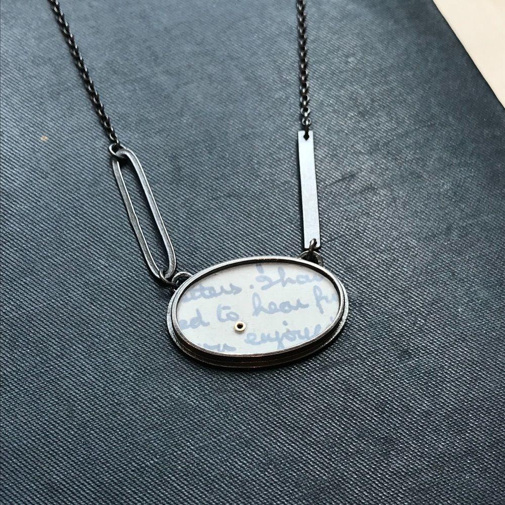 Oval, Lozenge + Strip Necklace