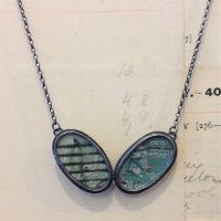 Double Oval Postcard Necklace