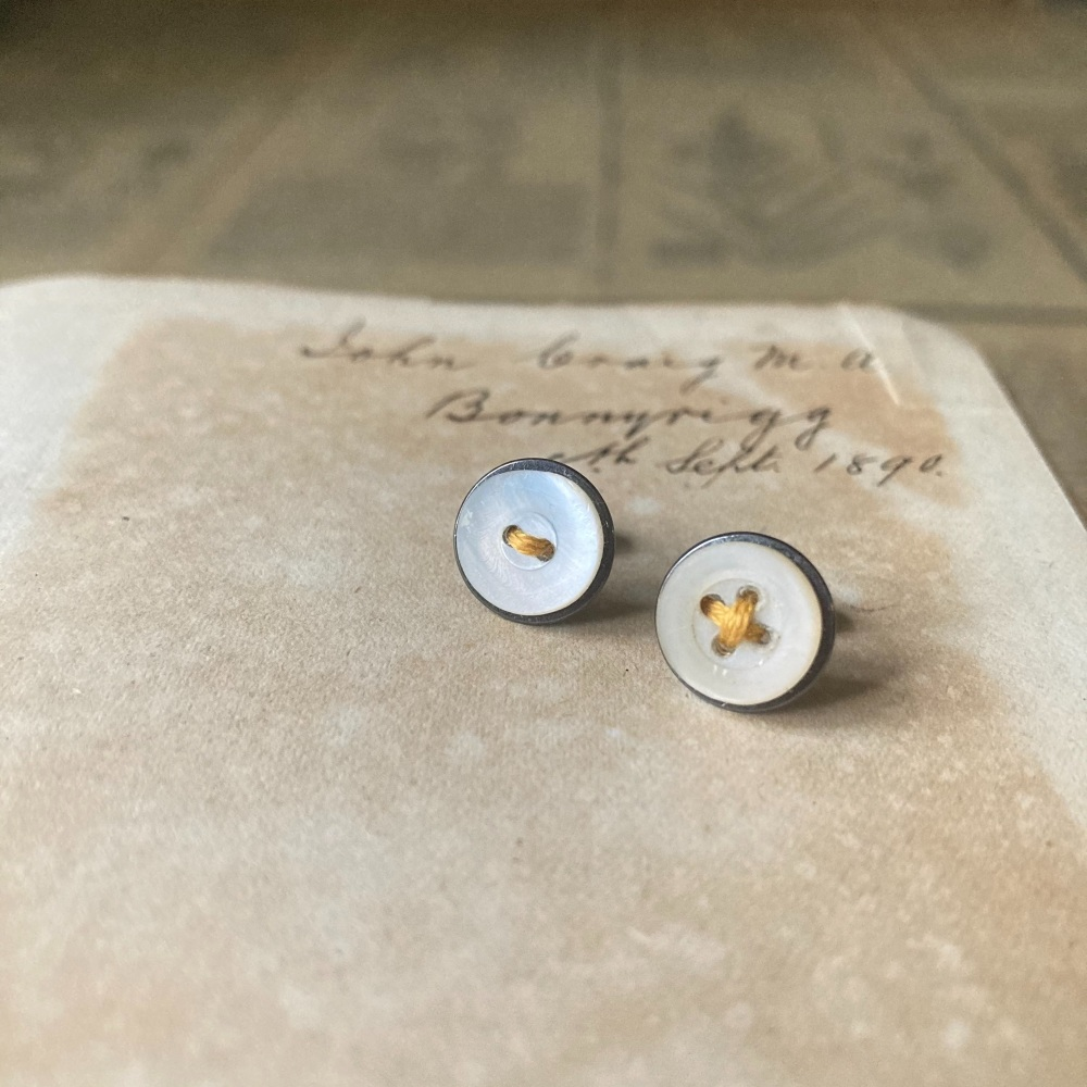 Mother of Pearl Button Studs