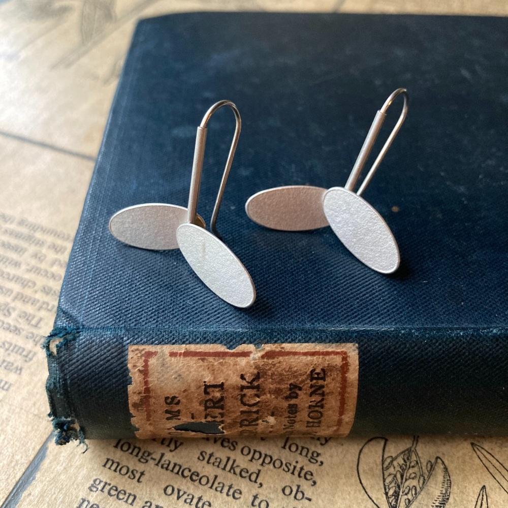 Two Ovals + Stick Earrings