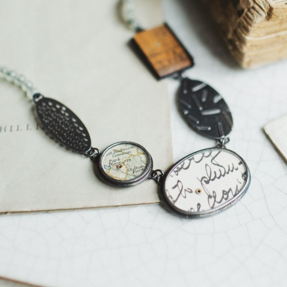 5 Elements Necklace with Map
