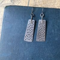 Long Holey Panel Earrings