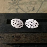 Holey Oval Studs
