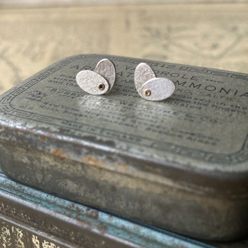 Small Riveted Oval Studs