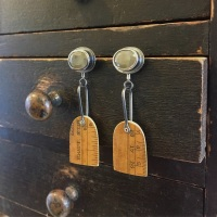 Sapphire, Ruler Arch + Paddle Earrings