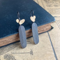 Chevron Lozenge + Overlapping Ovals Earrings