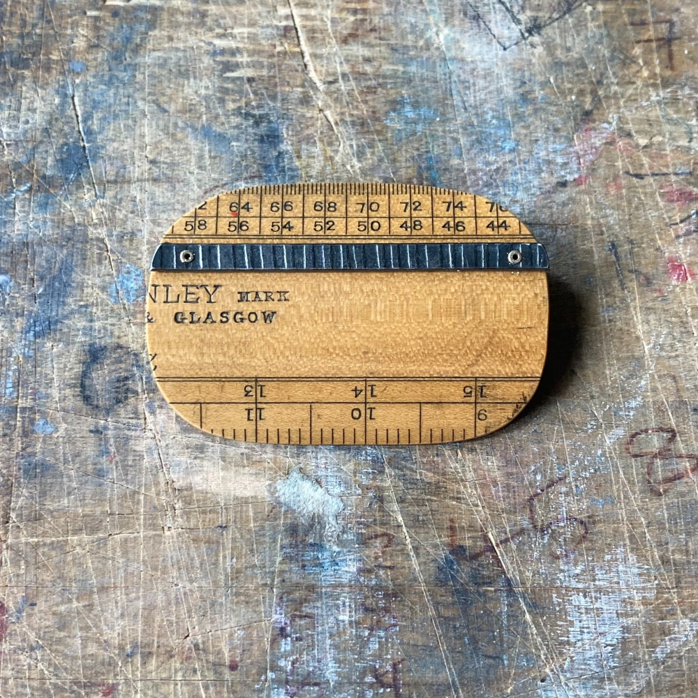 Ruler Shape Brooch