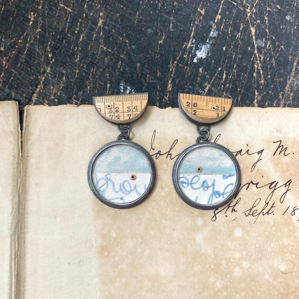 Ruler Bowl + Paper Dot Earrings