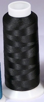 5000 m SPOOL OF BLACK HIGH TENSILE POLYESTER BOBBIN THREAD 60'S WEIGHT