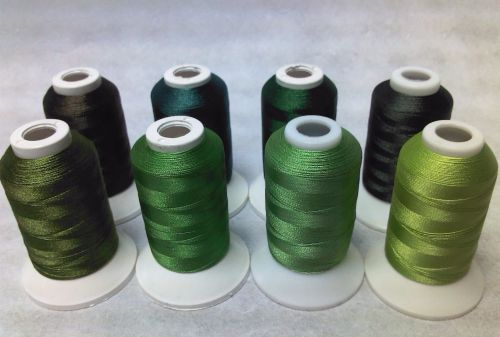 8 X 1000M TRILOBAL POLYESTER GREENS