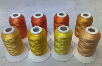 8 X 1000M POLYESTER YELLOW SHADES