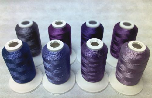8 X 1000M TRILOBAL POLYESTER PURPLES