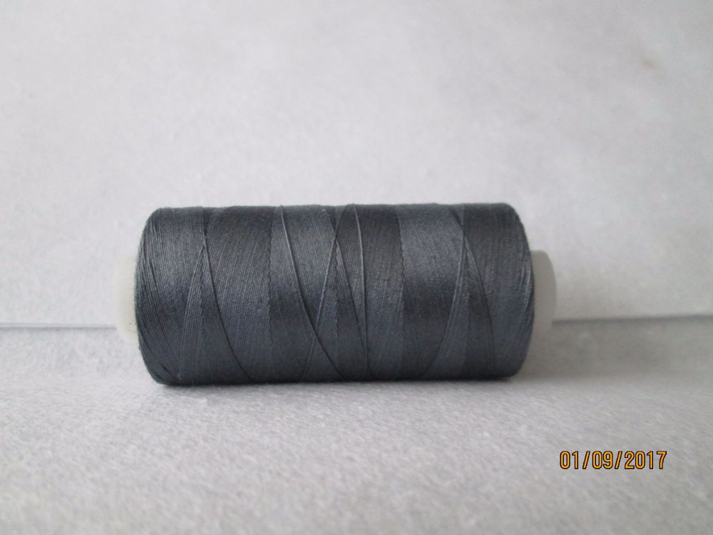 GUN METAL GREY -  QUILTING 100% ELONGATED COTTON THREAD -