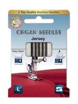 ORGAN JERSEY SEWING NEEDLES 130/705H ECO PACK SIZE 80/12, 5 NEEDLES PER PACK