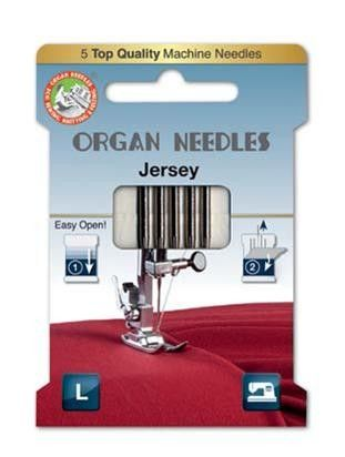 ORGAN JERSEY SEWING NEEDLES 130/705H ECO PACK SIZE 80/11, 5 NEEDLES PER PAC