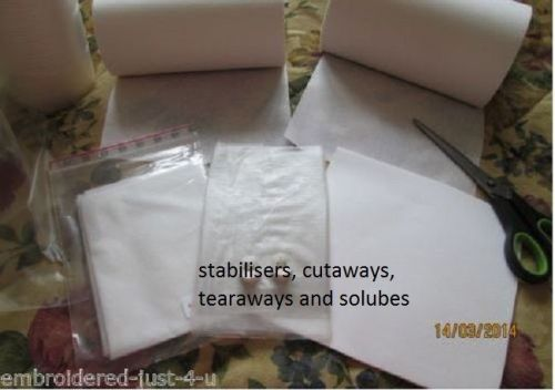 <!--001-->DE-LUXE STARTER PACK QUALITY STABILISERS SOLUBLES, IRON-ONS, TEAR