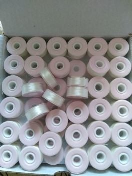GROSS (144) PREWOUND SIZE L CARDBOARD -SIDED BOBBINS WHITE