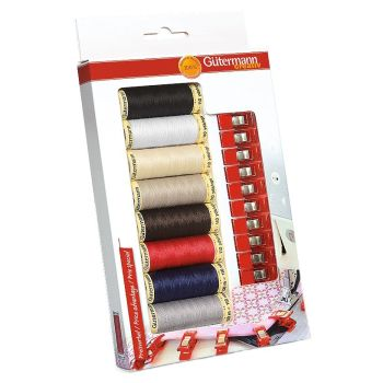 *NEW* GUTERMANN SEW-ALL THREAD SET WITH CLIPS RRP £18.50