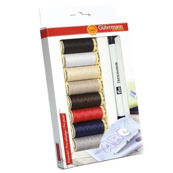 *NEW* GUTERMANN SEW-ALL THREAD SET WITH TRICK MARKER RRP £18.50