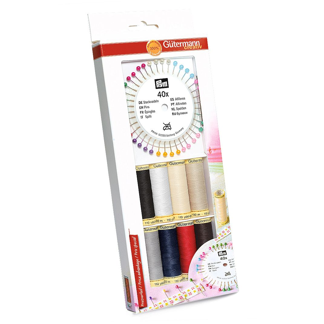 *NEW* GUTERMANN SEW-ALL THREAD SET WITH PEARL PINS SET RRP £18.50