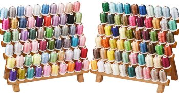 50  x 1000m threads of your choice , 120 colours to choose from + Free embroidery needles, bobbins and 5m tearaway. We may substitute an