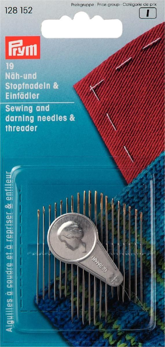 <!-- 018 -->Prym hand  sewing & darning needles with threader