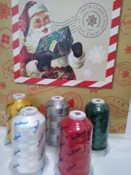 5 Christmas shades - LARGE- 5000m spools -SPECIAL PRICE