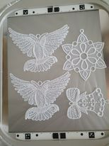 <!-- 006 -->NEW  - WATER SOLUBLE 75 MICRON EMBOSSED 50CMS WIDE FOR LACE