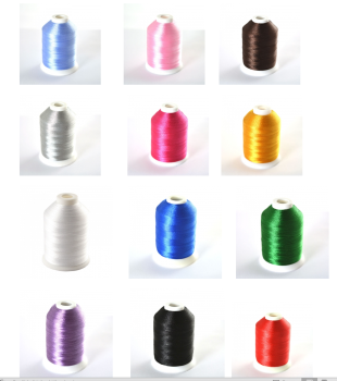 for fine lettering or bobbins 60 WEIGHT THREADS by Simthread