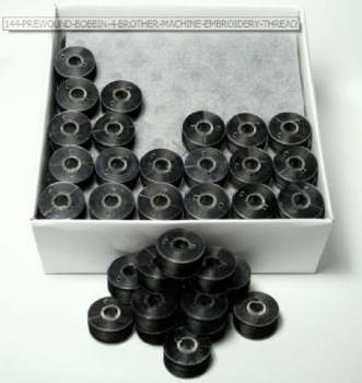 GROSS (144) PREWOUND SIZE A BOBBINS IN BLACK