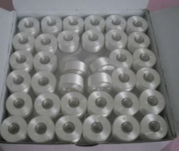 GROSS (144) PREWOUND SIZE L BOBBINS IN WHITE