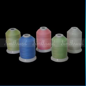 Single Mini king spools GLOW IN THE DARK Threads 1000m