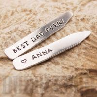 Collar Stiffeners - Personalised - Polished aluminium