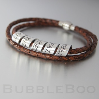 Secret Message Bracelet - Double Looped Leather
