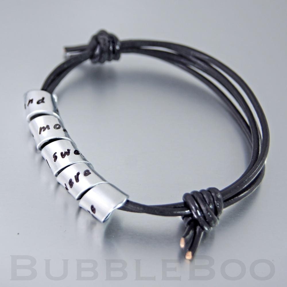Secret Message Bracelet - Knotted Leather