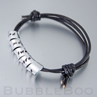 Secret Message Bracelet - Knotted Leather
