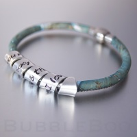 Vegan Secret Message Bracelet - Blue