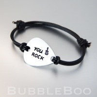 Personalised Guitar Pick Bracelet