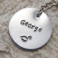 Personalised Dinosaur Key Ring