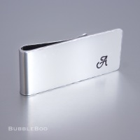 Personalised Money Clip with Monogrammed Initial - Gift boxed