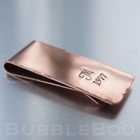 Personalised Copper Money Clip - Gift Boxed