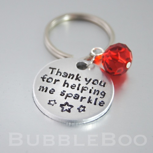 Teacher Gift Keyring  - Thank you for helping me sparkle